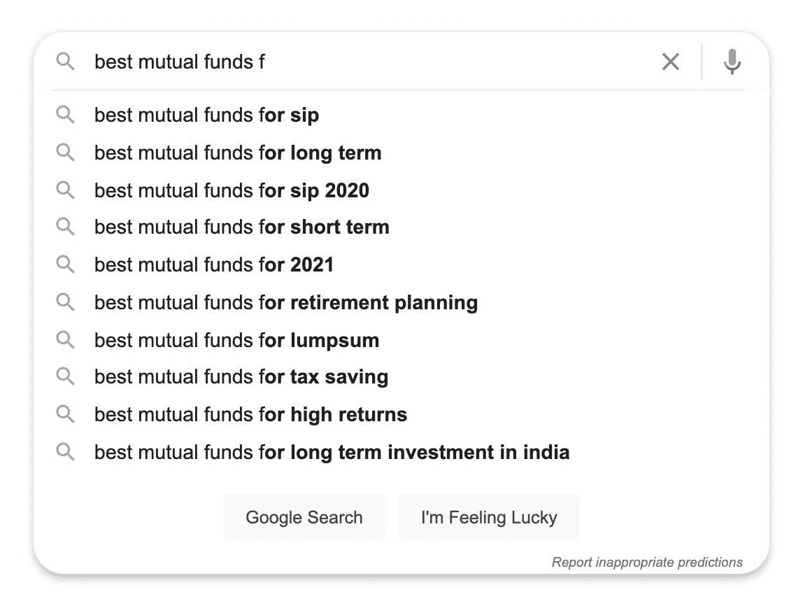 mutul funds seo